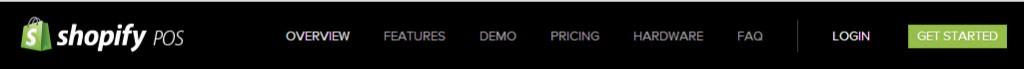 Shopify.com header