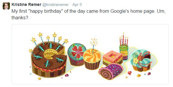 google birthday tweet