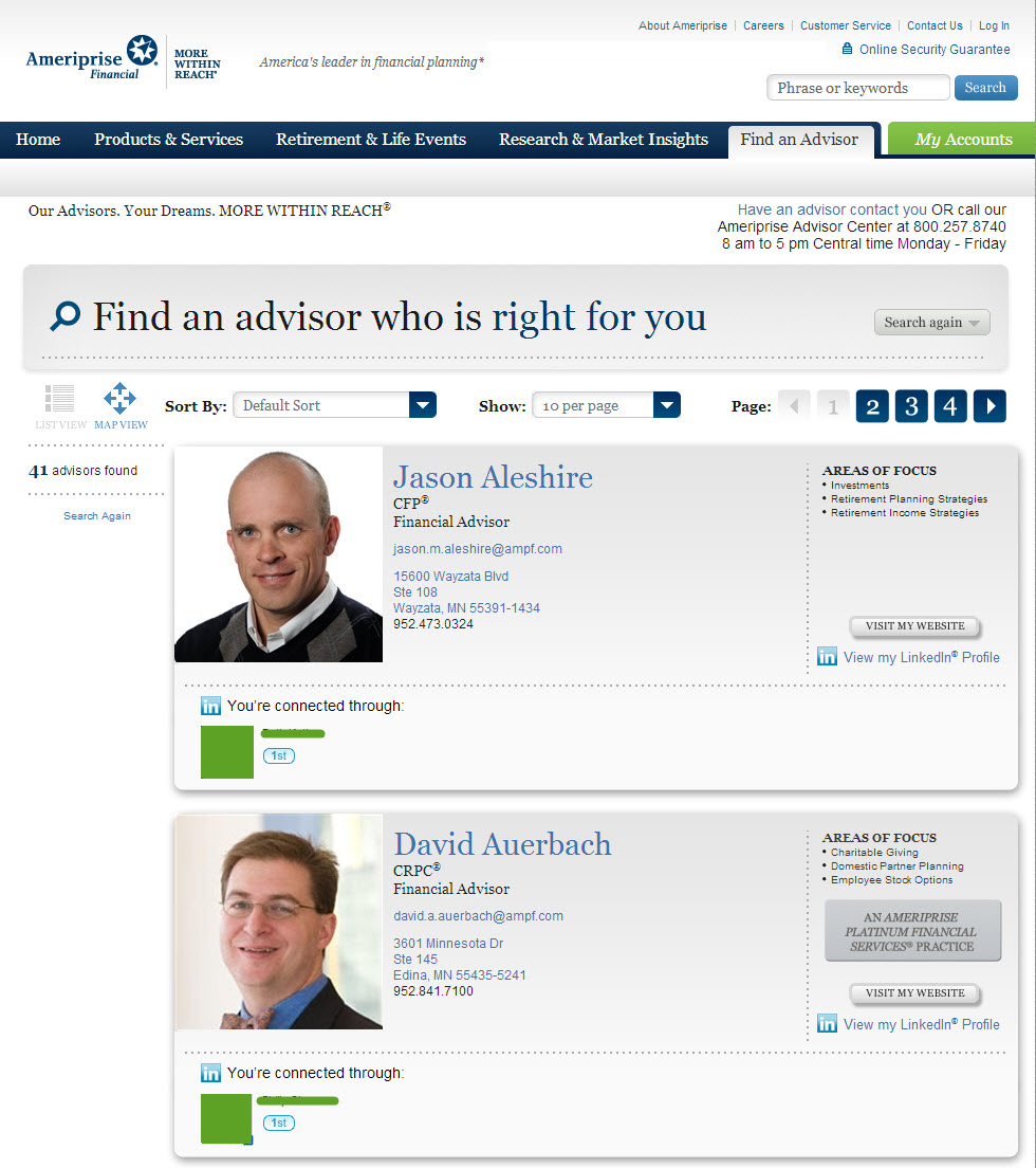 Ameriprise Financial & LinkedIn