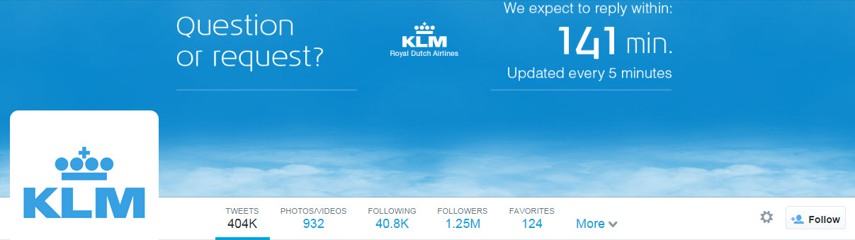 KLM Twitter