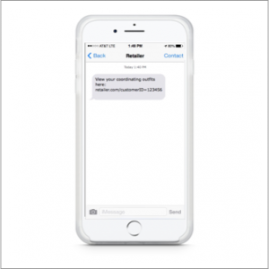 web link to coordinating outfits via text message
