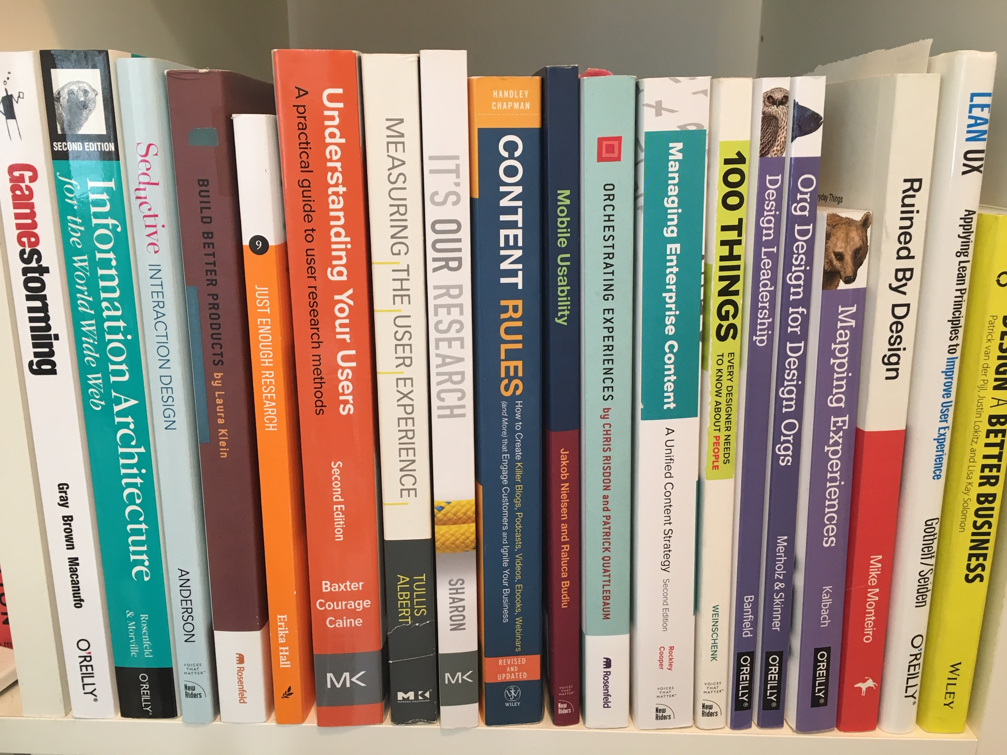 UX books from my own library
